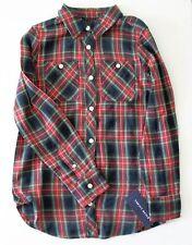 Ralph Lauren Girls Tartan Long Sleeve Shirt Navy Multi Sz 7 - NWT