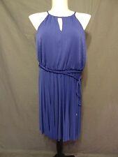 Lane Bryant Sexy Purple Pleated A Line Asymmetrical Hem Dress plus size 14/16