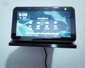 Amazon Echo Show 5 wall shelf mount KIT with screws 3D printed (Black)