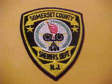 SOMERSET COUNTY NEW JERSEY POLICE PATCH  SHOULDER SIZE NEW