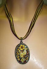 Modeschmuck-Halsketten & -Anhänger im Medaillon-Stil aus Strass
