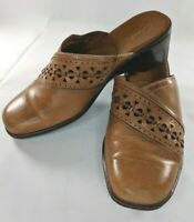 Clarks Women's Brown Slip On Clog Size 8