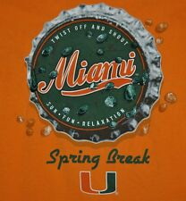 T-SHIRT S SMALL UNIVERSITY OF MIAMI HURRICANES SPRING BREAK CANES SHIRT