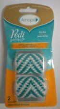 Amope Pedi Perfect Dry Skin Exfoliating Brush Refills, 2 Brush Refills