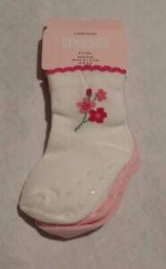 NWT Gymboree Blossom Kitty Cat Flower Socks 2 Pack 6-12 Months Baby Girl