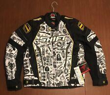 NWT DEADSTOCK Medium Men's SHIFT Avenger Motorcycle Jacket White/Yellow