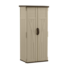 Suncast Resin Vertical Storage Shed 2 ft. 8.25 in. X 2 ft. 1.5 in X 6 ft.