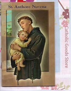 Saint St. Anthony Novena & Prayers Booklet