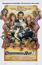 CANNONBALL RUN II (1984) ORIGINAL MOVIE POSTER  -  ROLLED  -  DREW ARTWORK
