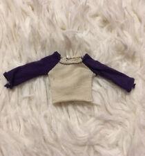 White Purple T-shirt Fits Ever After Monster High 1:12 Bjd Bratz Doll