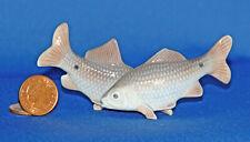 VINTAGE ROYAL COPENHAGEN SMALL PORCELAIN FIGURINE - 2 SWIMMING FISH model 2870