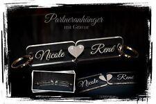 2 Schlüsselanhänger mit Gravur - Partneranhänger  Liebe Hochzeit Valentinstag 10
