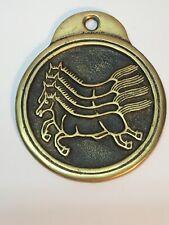 VTG  Brass MaPae 4 Horse Requisition Tablet Korean Secret Law Officer Badge Coin