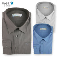 Mens / Boy's Long Sleeve Shirt Business Work Wear Formal Smart Casual Easy Care