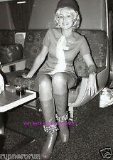"BEAUTIFUL PSA AIRLINES STEWARDESS - 5"" by 7"" REPRINT PHOTO"