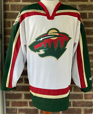 Ccm Minnesota Wild Stitched White Jersey Size Large