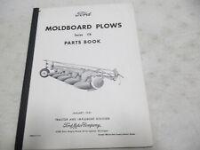 Ford Moldboard Plows Series 118 Parts Book