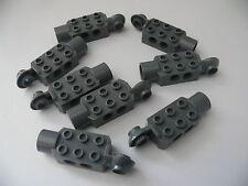 Lego 8 brique tech gris fonce bluish 7709 7712 8702 / 8 dark bluish brick