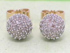 Diamant Ohrstecker 585 Gelbgold 14Kt Gold 136 Diamanten total 0,50ct