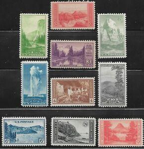 Mr B's National Parks Ten Stamp Set - #740 - 749 - MNH OG VF/XF - Free Shipping