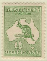 ½d Green Kangaroo. First Watermark, Inverted. MUH.