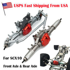 New Complete CNC Metal Front Axle & Rear Axle For 1/10 RC Crawler Axial SCX10 US
