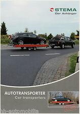 Prospekt Stema Anhänger Autotransporter 9 09 2009 Broschüre brochure trailer