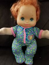 My Child Doll loving baby plastic face Red hair Aqua Eyes works