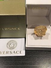 NWT $700 Gianni Versace Men's Women's Gold Palazzo Medusa Logo Ring AUTHENTIC