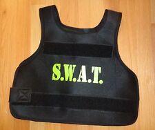 Boy Girl SWAT Police Vest for Halloween Costume Size 6 8 10 Dress Up