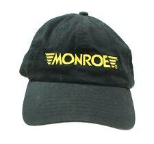 Monroe Shocks & Struts Mens Black Embroidered Mechanic Auto Hat Adj. Strapback