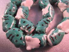 Ceramic Frogs Beads 10pcs