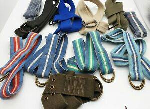 Casual Cotton Canvas Belt Men Buckle Dark Tone Loop D-Ring Jeans Chino Summer