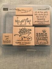 Stampin Up Love Ya Bunches Set Of 6 Wood Mounted Rubber Stamp Su Scrapbook 2005