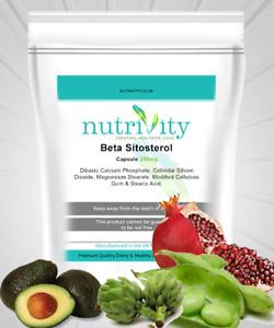 Beta-sitosterol (Plant sterol) 250mg Capsules Nutrivity UK- Cholesterol Control
