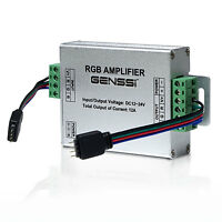 12V 12A Data Repeater RGB Signal Amplifier For SMD 3528 5050 LED Strip Light Amp