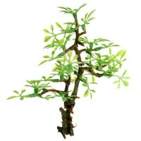 Plastic Bonsai Green Tree Aquarium Ornament Fish Tank Decor Ornament B7W6