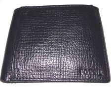 Men's Fossil Collin Passcase Black Color Leather Bifold Wallet. #SML1300001 NWT!