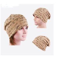Mens Womens Hip-Hop Warm Winter Cotton Knit Ski Beanie Skull Cap Fashion Hat