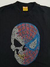 BEZ Clothing Co Spiderman Skull Men's 2XL Black Graphic Short Sleeve T-Shirt ZM