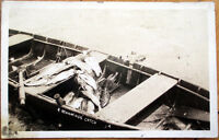 1920 Fishing Realphoto Postcard: Fish in a Canoe, 'A Morning's Catch'