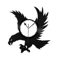 Eagle Vinyl Wall Clock Record Birds Lovers Unique Gift Home Office Decoration