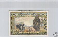 AFRIQUE DE L'OUEST - COTE D'IVOIRE 500 FRANCS ND (1959/1964) ALPHABET C.42 !!!