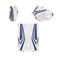 "Vaughn Ventus Slr blocker/glove leg pads junior 24""+2 hockey goalie White / Blue"