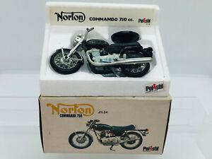 Vintage 1970s Polistil Norton Commando 750 Motorcycle 1/24 Scale Boxed Polistil