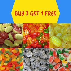 SUGAR FREE SWEETS - GUMS TOFFEES AND BOILED SWEETS - *** BUY 3 GET 1 FREE ***