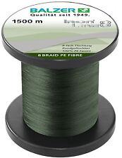 BALZER IronLine8 Angel Schnur 8-fach rund geflochten grün 0,08mm 7,2kg à 50m TOP