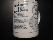 """THE LEGEND OF THE SAND DOLLAR"" COFFEE MUG..PRISTINE CONDITION"