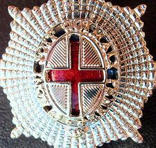 1980's ERA BRITISH ARMY COLDSTREAM GUARDS OFFICER'S ENAMEL UNIFORM CAP BADGE