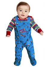 Chucky disfraz de bebé, azul y rojo con todo en uno (UK IMPORT) costo-M NUEVO